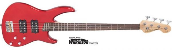 Vintage Bass Guitar V90CAR Candy Apple Red – 4 string